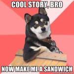 dogs never criticize