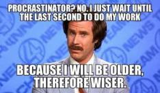 procrastination writers block
