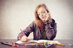 coloring writers block