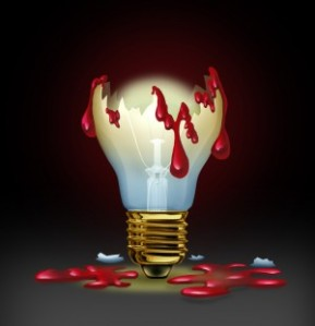 lightbulb dangerous writers block canstockphoto13538132 (2)