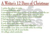 writers_12_days_of_christmas_modern_wall_clock
