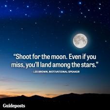 shoot for moon writer's block