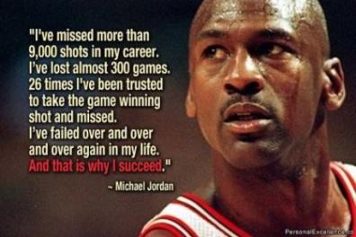 failure leads to success Michael Jordon