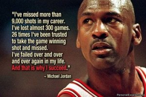 failure leads to success Michael Jordon