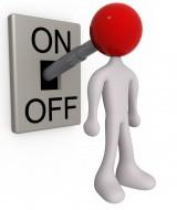 on off switch writer's block
