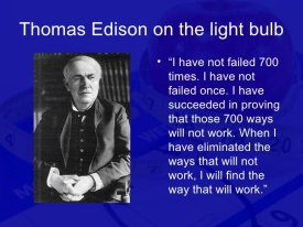 thomas edison I have not failed quote writer's block writing habits