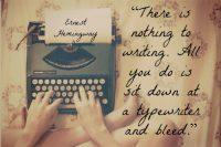 hemingway writing writer's block quote