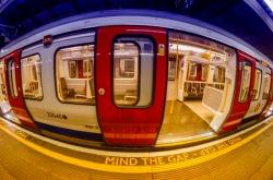34860502 - mind the gap in london underground.
